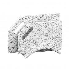 """Набор разделочных досок из  камня на подставке """"Долматинец"""""""