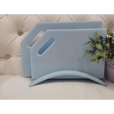 """Набор разделочных досок из камня на подставке """" Blu Sapphire"""""""