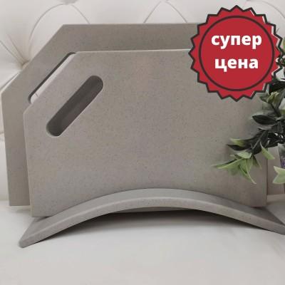 """Набор разделочных досок из искусственного камня на подставке """"Grey"""""""