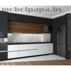 Угловая  кухня с фасадами из ЛДСП