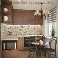 Угловая   кухня с фасадами из массива
