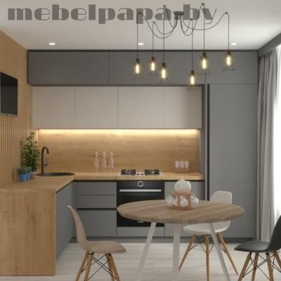 Угловая кухня на заказ. Модель 28