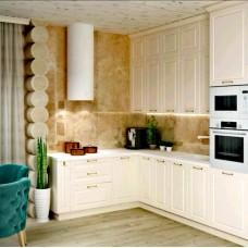 Угловая кухня с фасадами из крашеного МДФ