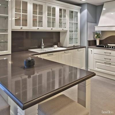 Столешница из кварца для кухни. Metropol Grey 7537