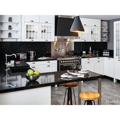 Столешница из кварца для кухни. Spa Black 8727
